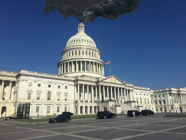 'Q' Says Black Smoke Rising From Capitol Chimney Means Trump Won't Be Inaugurated Until April 1st