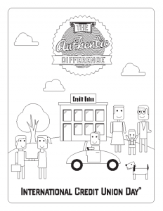 Color a page and help us celebrate International Credit