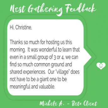 Don't Take my Word for it: Empty Nest Flock Feedback – Your