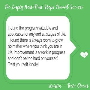 Empty Nest Coach Testimonial