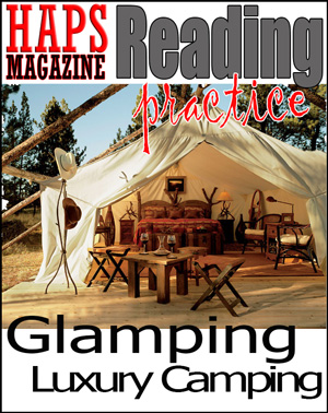 ESL Reading Lesson Plan - Glamping Luxury Camping