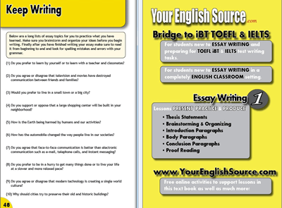 Essay Writing Book 1