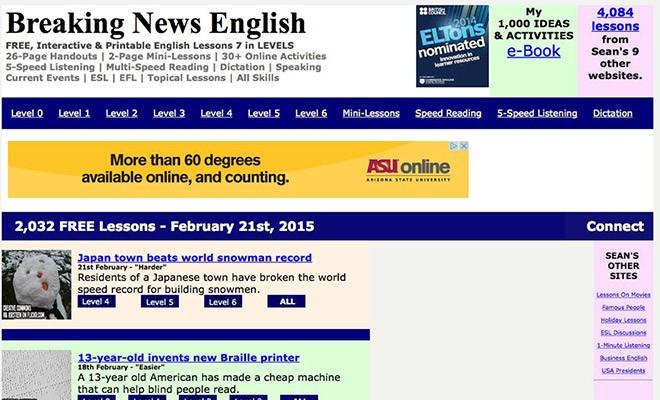 useful esl websites 2 - breakingnewsenglish