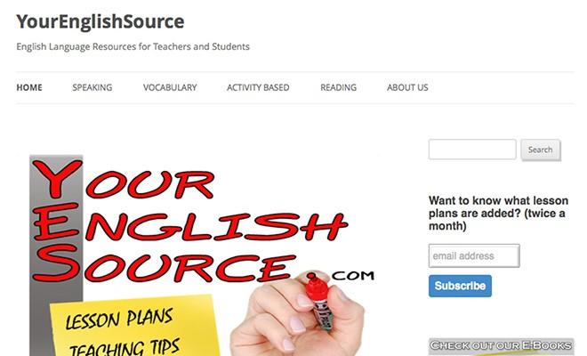 useful esl websites 4 - YourEnglishSource.com