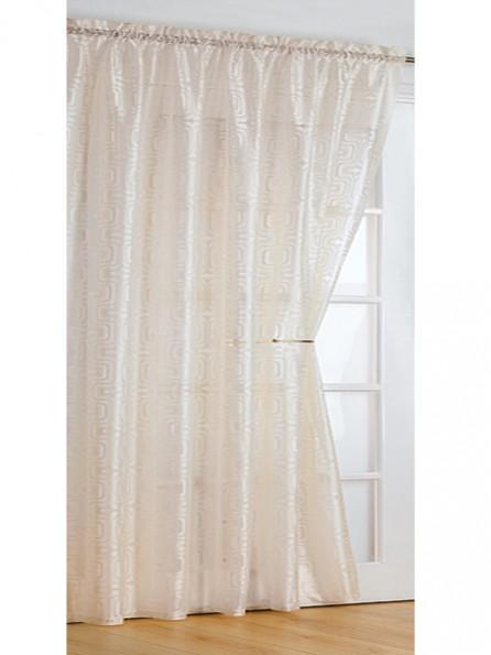 Retro Voile Panel Net Curtain Slot Top Champagne Colour Drop Size 54 72 90 Pair