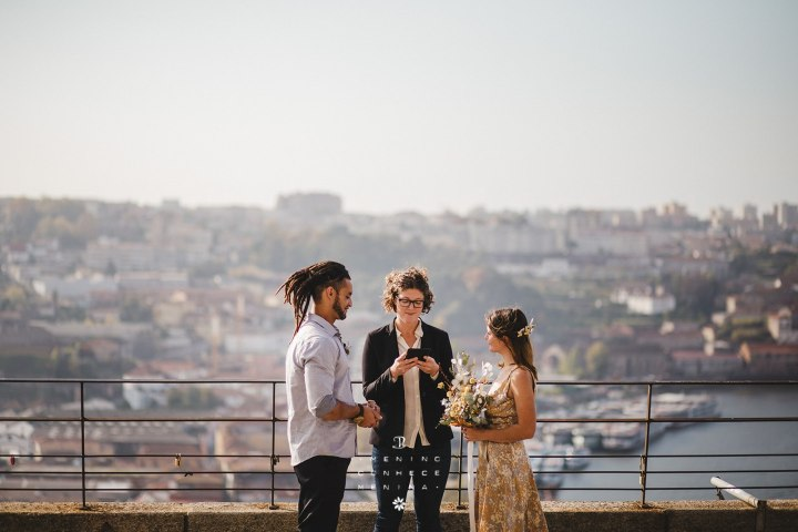 Elopement in Portugal at Mosteiro da Serra do Pilar in Porto