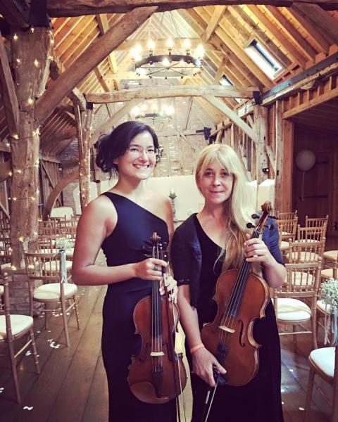 violin duo wedding musicians