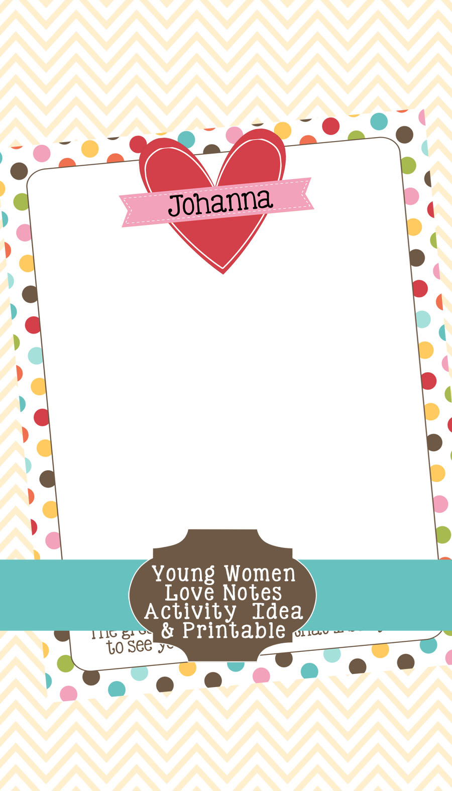 Young Women Love Notes Activity Idea & Printable