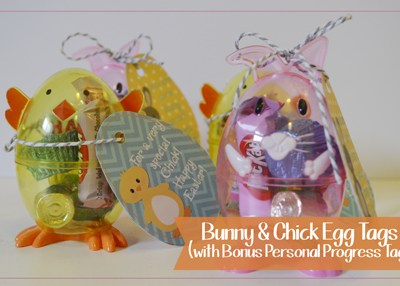 Bunny & Chick Easter Egg Tags