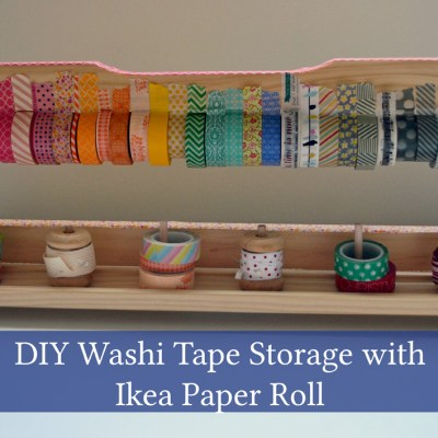 DIY Washi Tape Storage with Ikea Paper Roll