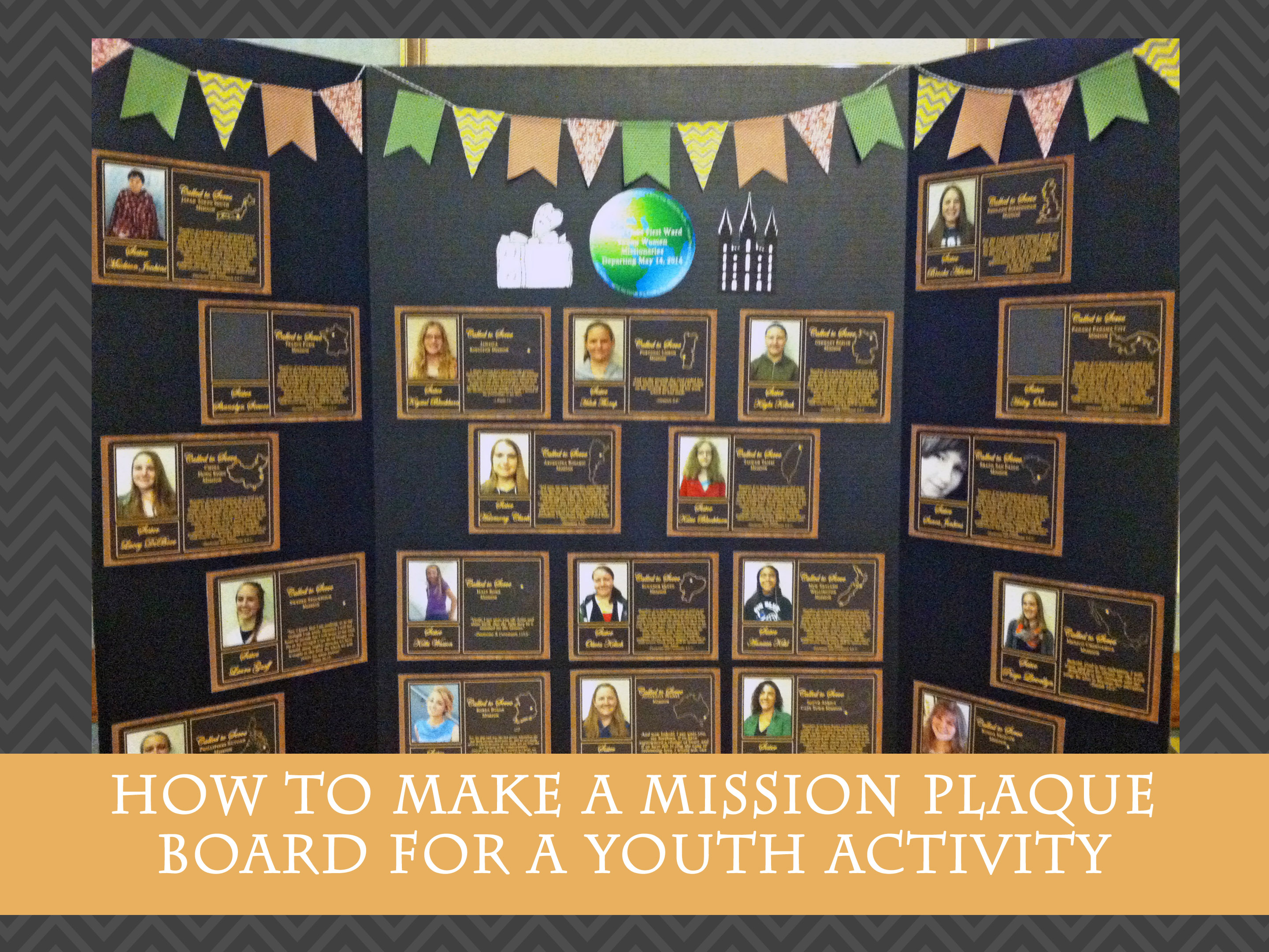 Making A Mission Plaque Board For Yw Activity