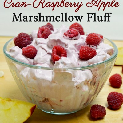 White Chocolate Cran-Raspberry Apple Marshmellow Fluff