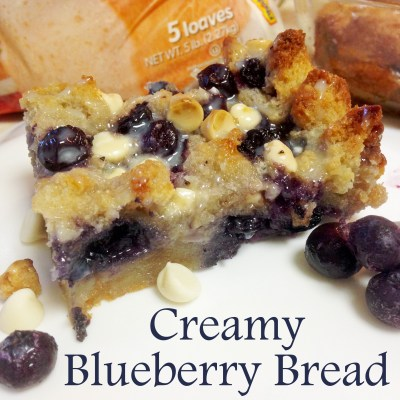 Creamy Blueberry Bread Pudding with Rhodes