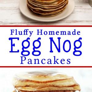 Fluffy Homemade Eggnog Pancakes