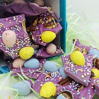 Cadbury Egg Easter Bark