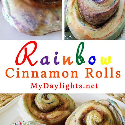 Rainbow Cinnamon Rolls