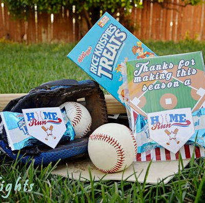 Home Run Baseball Rice Krispies Treats