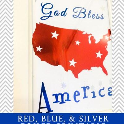 Foiled Patriotic Print