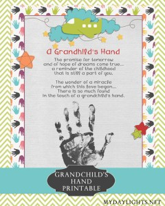 Grandchild's Hand Printable