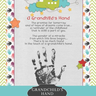 Grandchild's Hand Poem & Printable