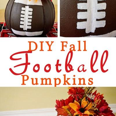 DIY Fall Football Pumpkins
