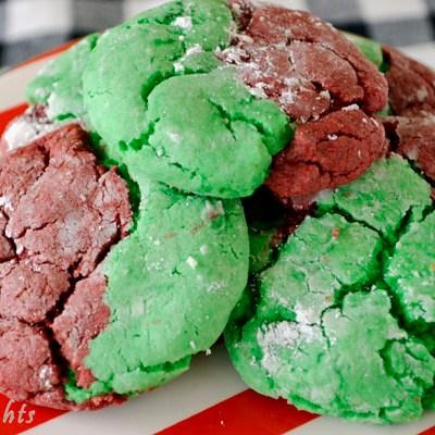 Easy Christmas Crinkle Cookies