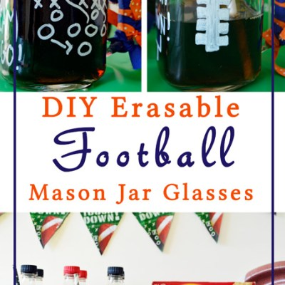 DIY Football Mason Jar Glasses