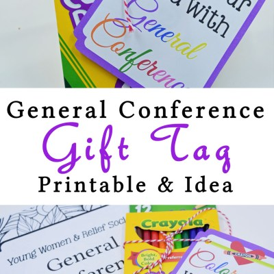 Color Your World With General Conference Printable Tag