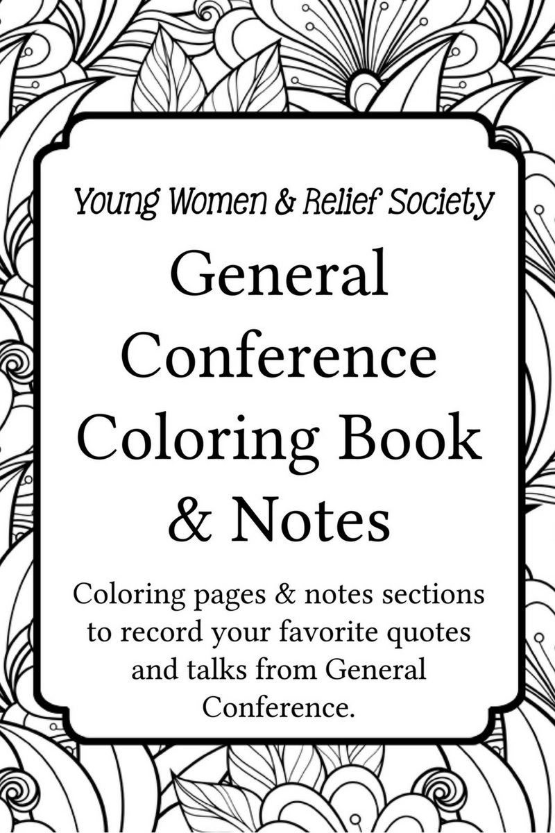 conference coloring pages General Conference Coloring and Notes Book   Your Everyday Family conference coloring pages