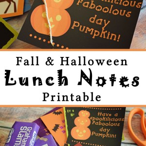 Fall Kids' Lunch Notes Printable