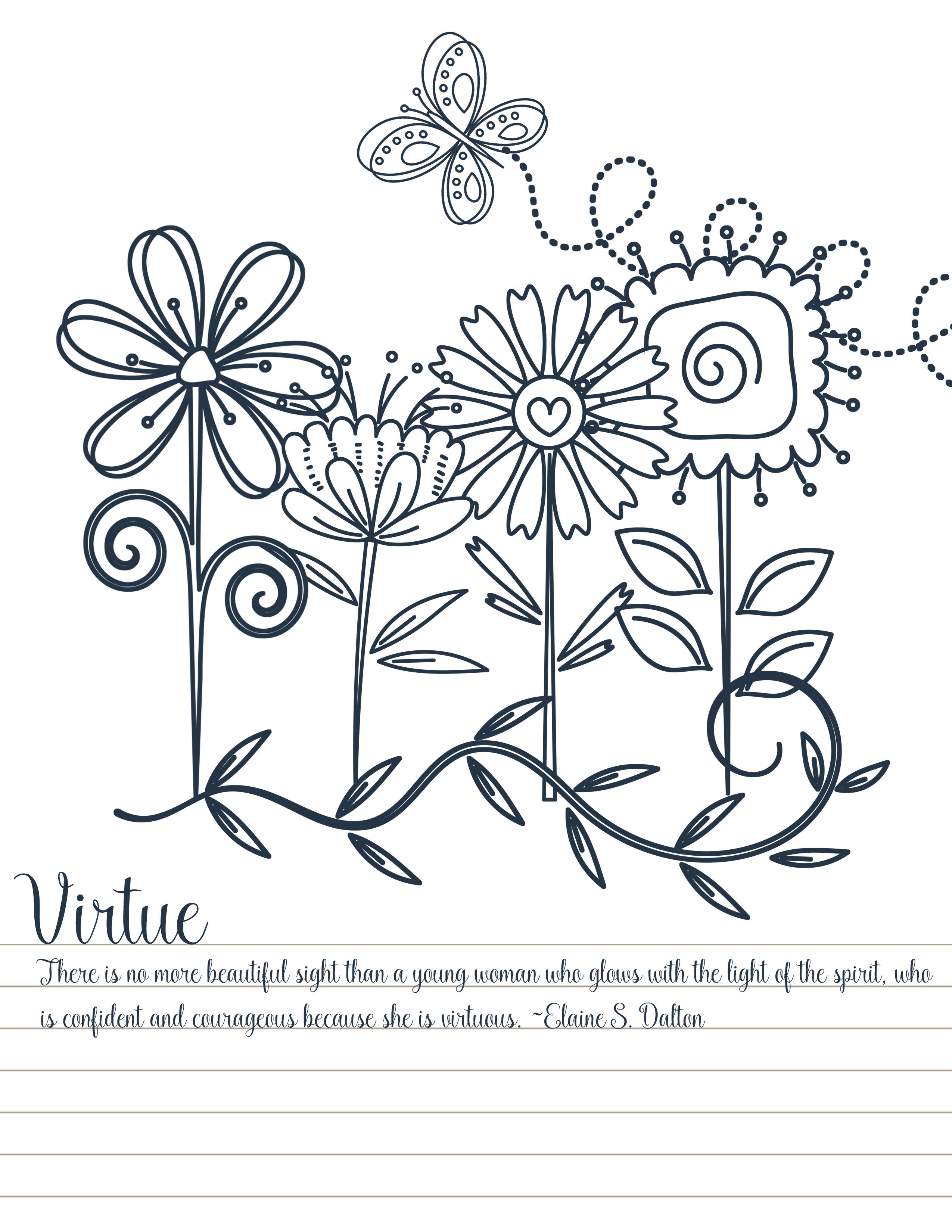 young women personal progress values coloring pages your
