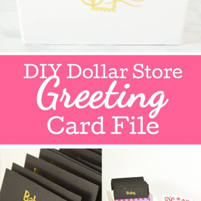 DIY Dollar Store Greeting Card Box