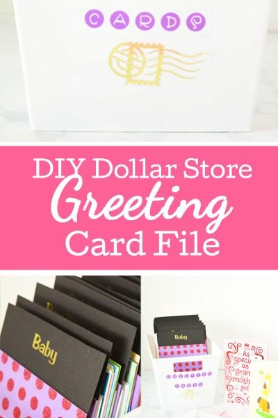 DIY Dollar Store Greeting Card Box