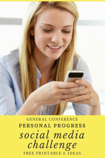 General Conference Personal Progress Social Media Challenge