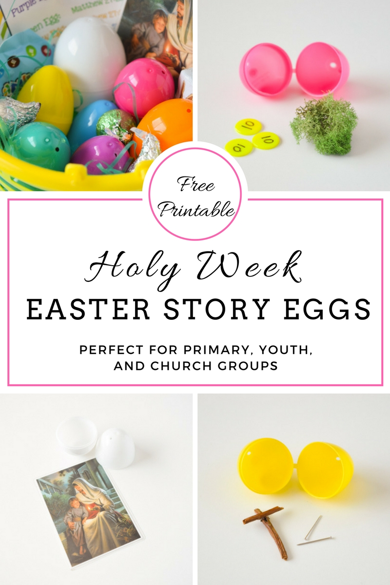 image about Resurrection Egg Story Printable titled Holy 7 days Easter Tale Eggs with Cost-free Printables - Your