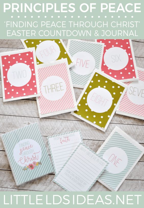 Easter Countdown and Journal from Little LDS Ideas