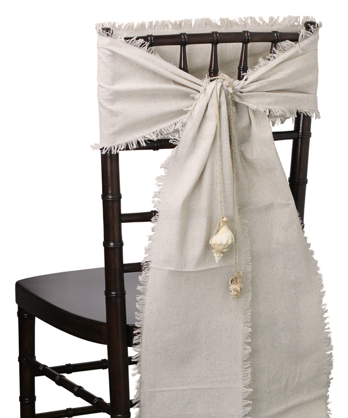 burlap chair covers for sale farmhouse dining sashes your fabric source wholesale online linen fringed edges 8 x
