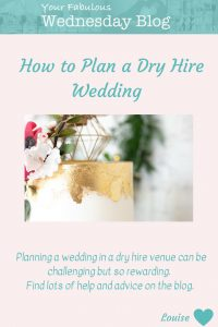 How to Plan a Dry Hire Wedding