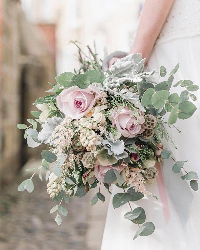 Seasonal Flowers in Bride's Bouquet
