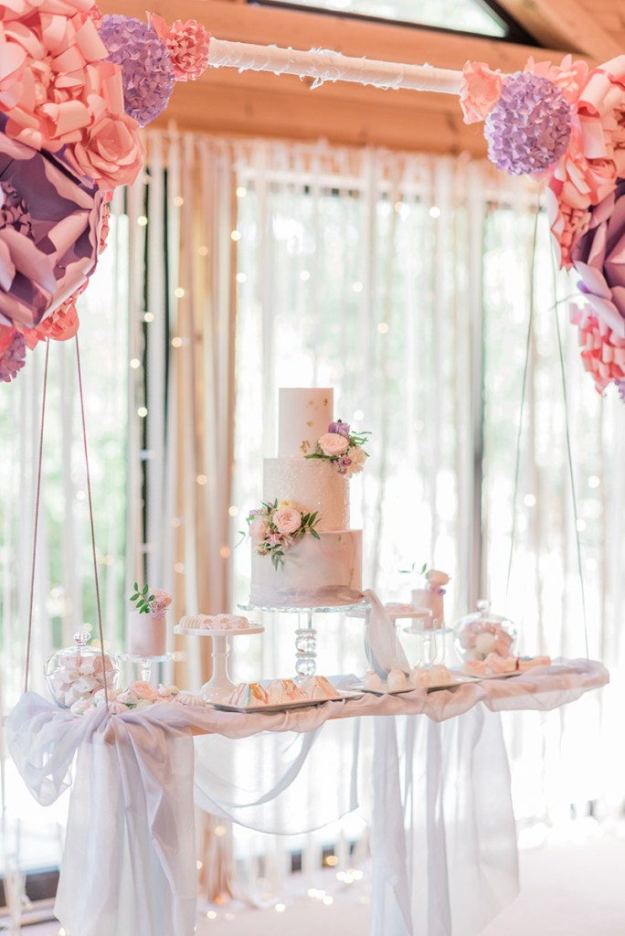 Wedding Cake on a Swing