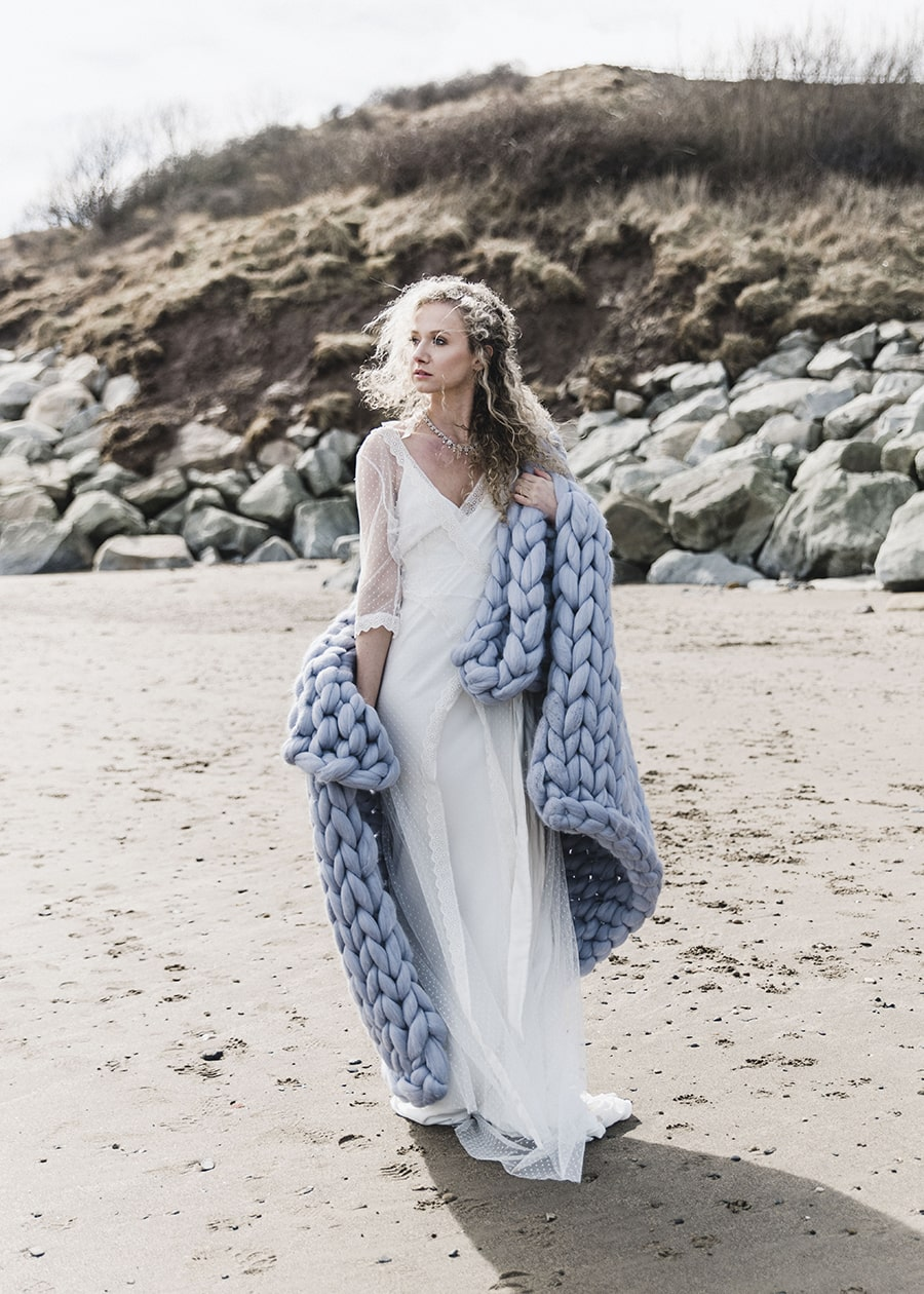 Merino Wool Blanket - Boho Beach Wedding