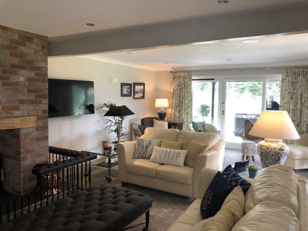 Living Room at Woodland Lodge