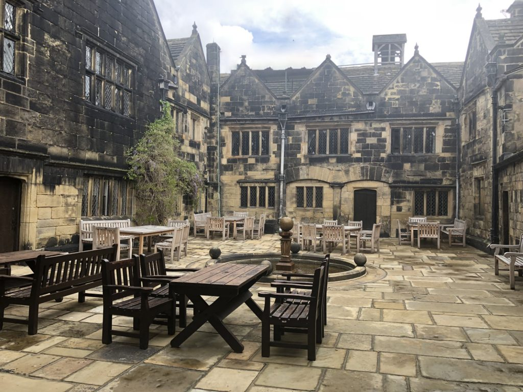 Courtyard at Woodsome Hall, West Yorkshire Wedding Venue