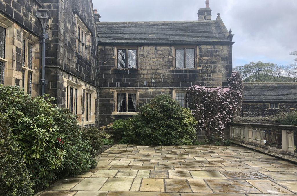 Terrace at Woodsome Hall, West Yorkshire Wedding Venue