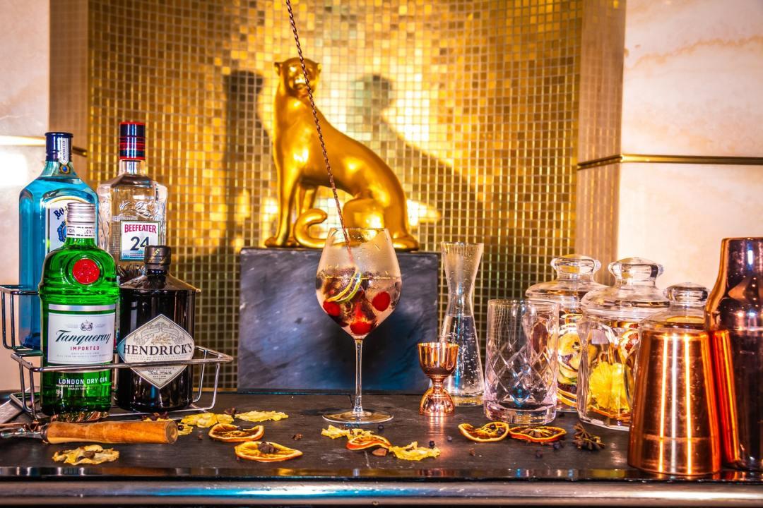 Glamourous bar set up
