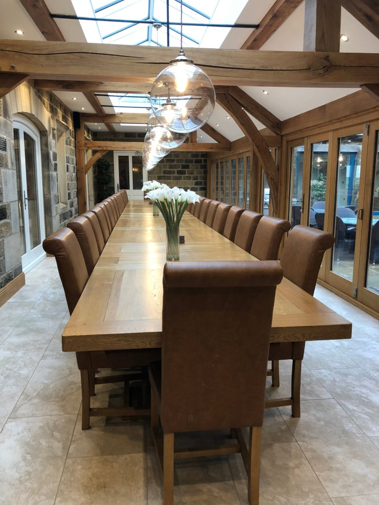 Long Dining Table at Spicer Manor