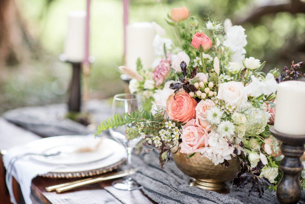 Woodland Wedding Table Set Up