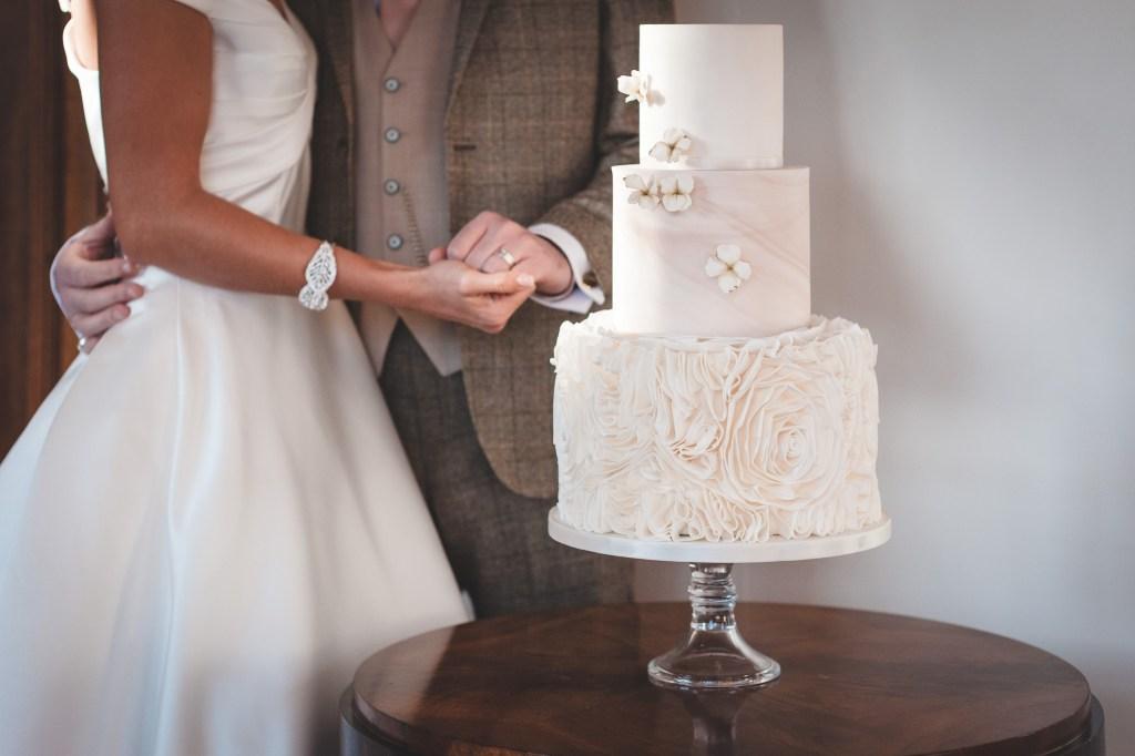 Elegant Neutrals Wedding Cake
