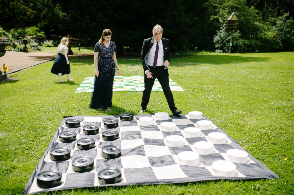 Giant Draughts Board at Wedding