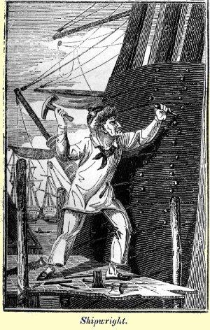 Engraving of shipwright